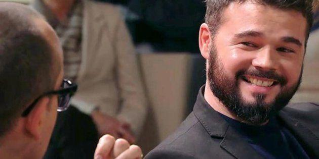 Rufián se pone creativo tras la puesta en libertad de Puigdemont y recibe un 'zasca' que encantará a...