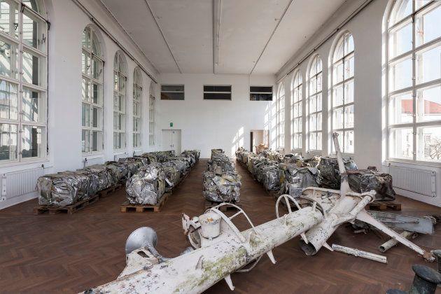 'Síndrome de Guernica'. Instalación en Offenes Kulturhaus, Linz,