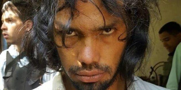 El 'artista antropófago', en una imagen de Instagram colgada por la policía tras su