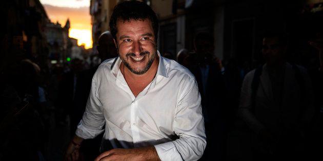 Matteo Salvini, el pasado 3 de septiembre, en una fiesta religiosa celebrada en Viterbo (centro de