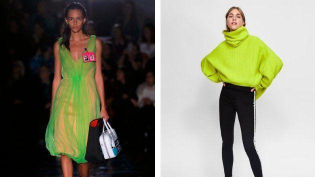 A la izquierda un diseño de Prada, a la derecha de