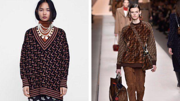 A la izquierda Zara, a la derecha