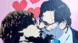 Rajoy y Puigdemont se besan en las calles de
