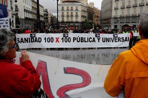 Concentración en Madrid contra la privatización