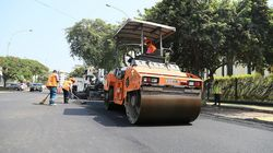 Muere un trabajador cuando asfaltaba una carretera en plena ola de
