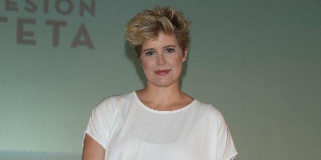 Tania Llasera en la presentación de la 'Sesión Teta' en los cines de la Vaguada de Madrid, en mayo de