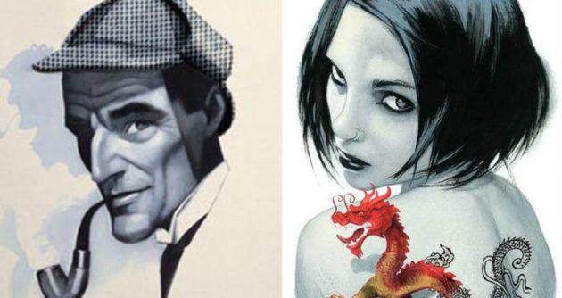 Sherlock Holmes y Lisbeth Salander vistos por Fernando