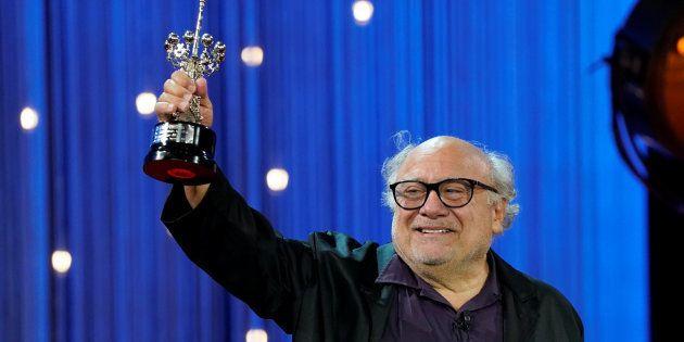 Danny DeVito recoge el Premio Donostia en el Festival de Cine de San Sebastián, el 22 de septiembre de