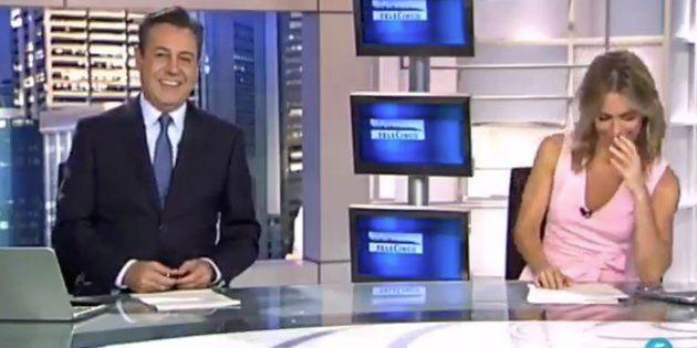 La reacción de Ángeles Blanco ('Informativos Telecinco') por lo que le dijo José Ribagorda en pleno