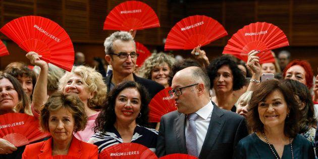 Carmen Calvo en el acto de firma de la Carta por la Paridad y la Igualdad en el Cine por parte del Festival...
