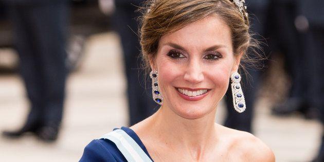La reina Letizia en el banquete celebrado en la City el 13 de julio de