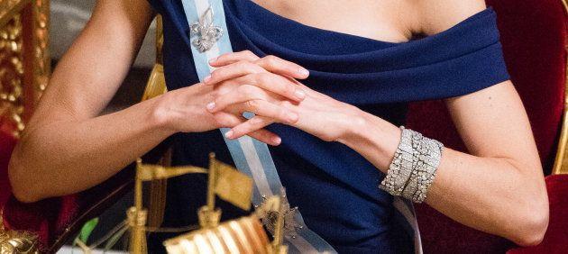 La reina Letizia, con las pulseras