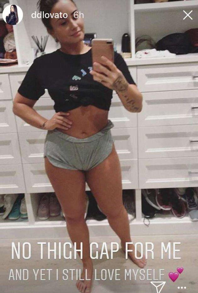 Demi Lovato muestra sus estrías y celulitis para recordar la importancia de quererse a uno
