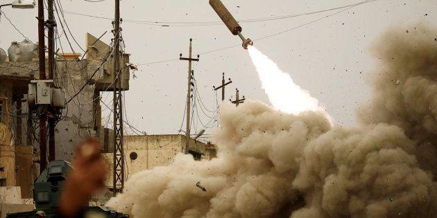 La respuesta iraquí al Estado Islámico durante una batalla en Mosul, el 11 de marzo de