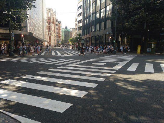 Cruce de Gran Via de don Diego López de Haro con Alameda, en