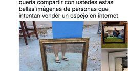Un tuitero muestra lo que te puede ocurrir al vender un espejo en internet y revienta