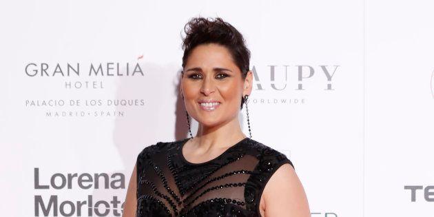 La cantante Rosa López, en la Global Gift Gala en Madrid el 22 de marzo de
