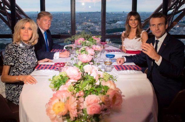 La foto viral de Emmanuel Macron y Melania Trump que no te debes