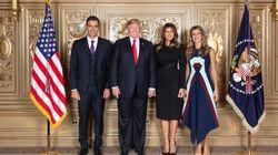 El posado de Pedro, Donald, Melania y