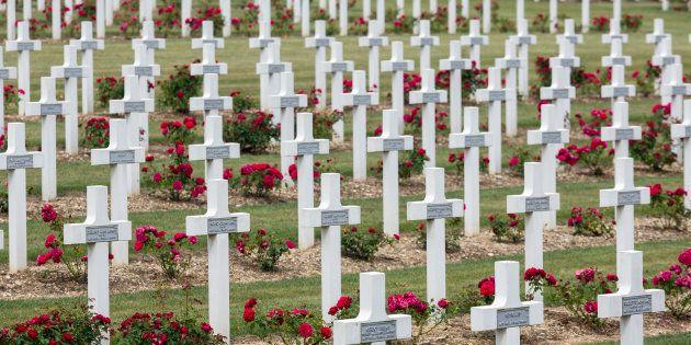 Cementerio en el que reposan los restos de soldados muertos en la Batalla de Verdún durante la Primera...