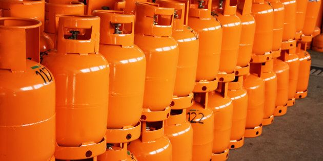 LPG Gas Bottles. LPG
