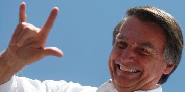 Jair Bolsonaro, en un acto en la ciudad brasileña de Taguatinga el pasado 5 de