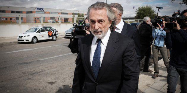 Francisco Correa, llegando a la sede de la Audiencia Nacional en San Fernando de Henares en octubre de