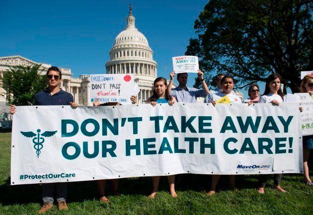 Protestas contra la reforma sanitaria de Trump en