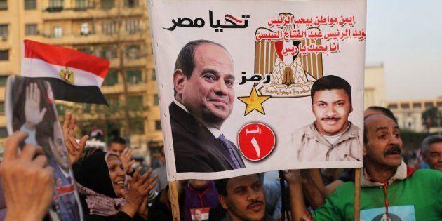 Partidarios de Abdelfatá al Sisi celebran su reelección el pasado 2 de