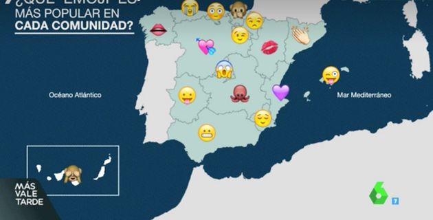 El mapa que te dice qué emoji es el más usado en tu
