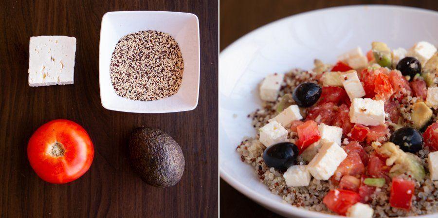 Recetas fáciles: ensalada de quinoa, aguacate y