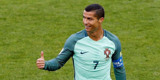 Cristiano Ronaldo celebra un gol con la Selección de Portugal el 21 de junio de