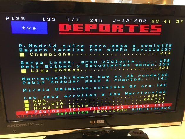 El error de campeonato del Teletexto que enfada a los