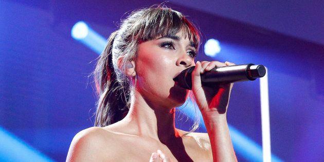Aitana, cantante invitada durante la primera gala de 'Operación Triunfo' el 27 de septiembre de