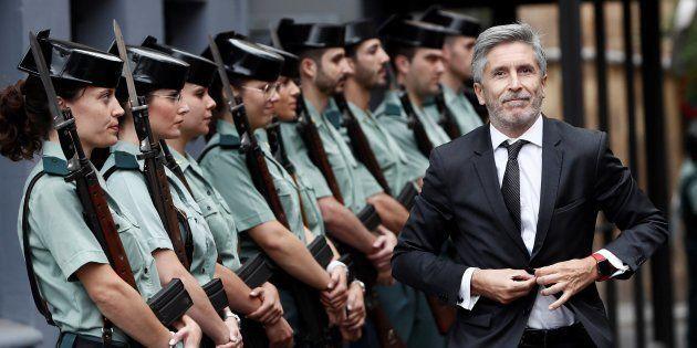 El ministro del Interior, Fernando Grande-Marlaska, a su llegada a los actos conmemorativos por el 30...
