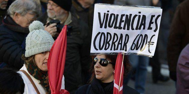 Imagen de archivo de una manifestación contra los