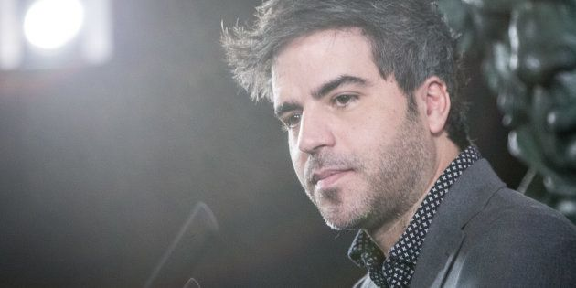 El cómico Ernesto Sevilla, en la rueda de prensa presentación de los premios Goya 2018 en