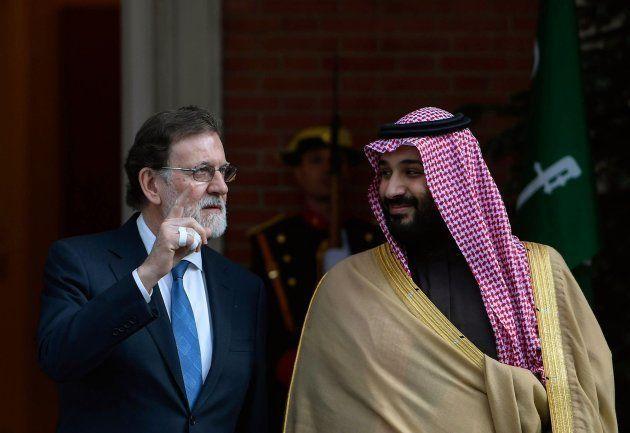 Mariano Rajoy con Mohamed Bin