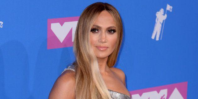 La cantante Jennifer Lopez, en los MTV Video Music Awards el 20 de agosto de