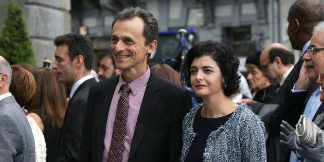 Pedro Duque y Consuelo Femenía, en los Premios Princesa de Asturias de 2015, en