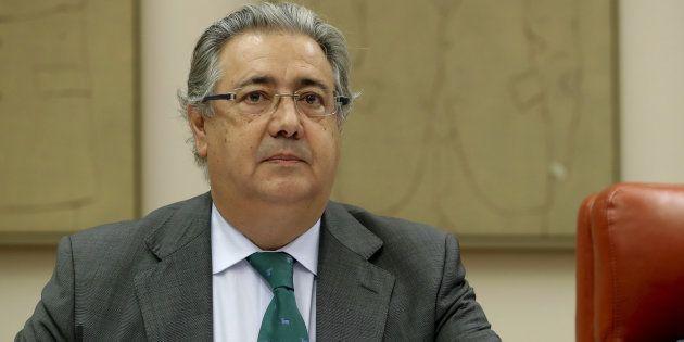 Juan Ignacio Zoido, durante su comparecencia de