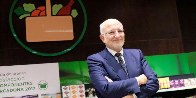 Juan Roig, presidente ejecutivo de Mercadona, durante la presentación de resultados de 2017 en