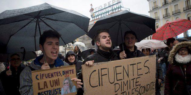 Manifestación en la Puerta del Sol (Madrid) para exigir la dimisión de