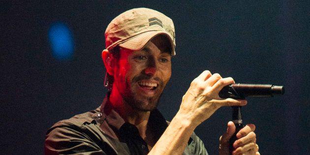 Enrique Iglesias, durante el concierto en El Sardinero (Santander) el sábado 15 de julio de