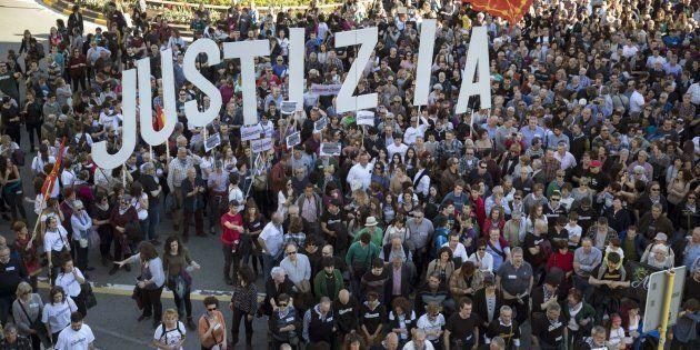 Manifestación en Pamplona para