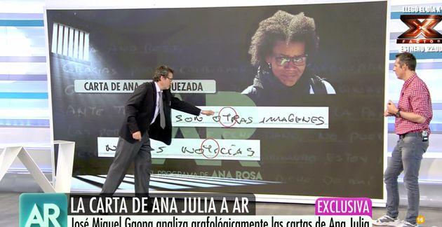 El psiquiatra Gaona desvela la personalidad oculta de Ana Julia tras analizar las cartas que escribió...