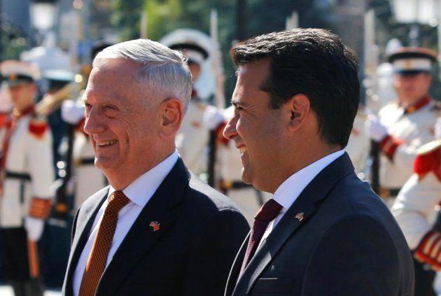 Mattis y Zoran Zaev este mes de septiembre en