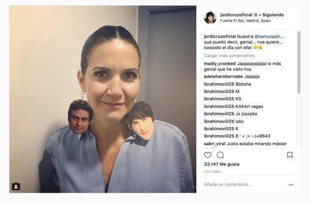 Jordi Cruz comparte en Instagram la foto más extraña de Samantha Vallejo