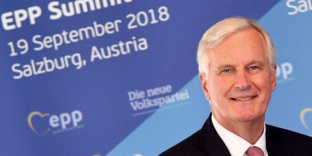 El negociador del Brexit, Michel Barnier, a su llegada al congreso del Partido Popular Europeo (EPP)...