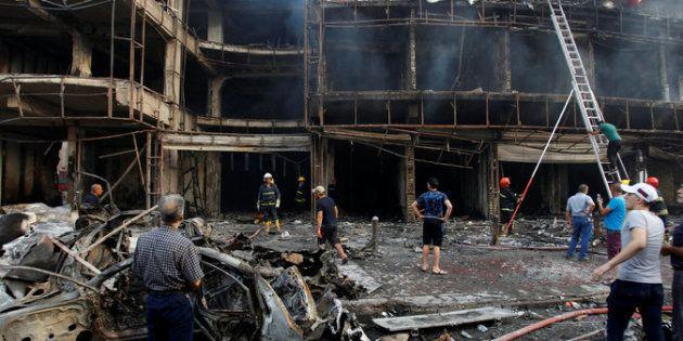 Atentado con furgoneta bomba en el centro de Bagdad, el pasado julio de 2016, que dejó 140 muertos en...